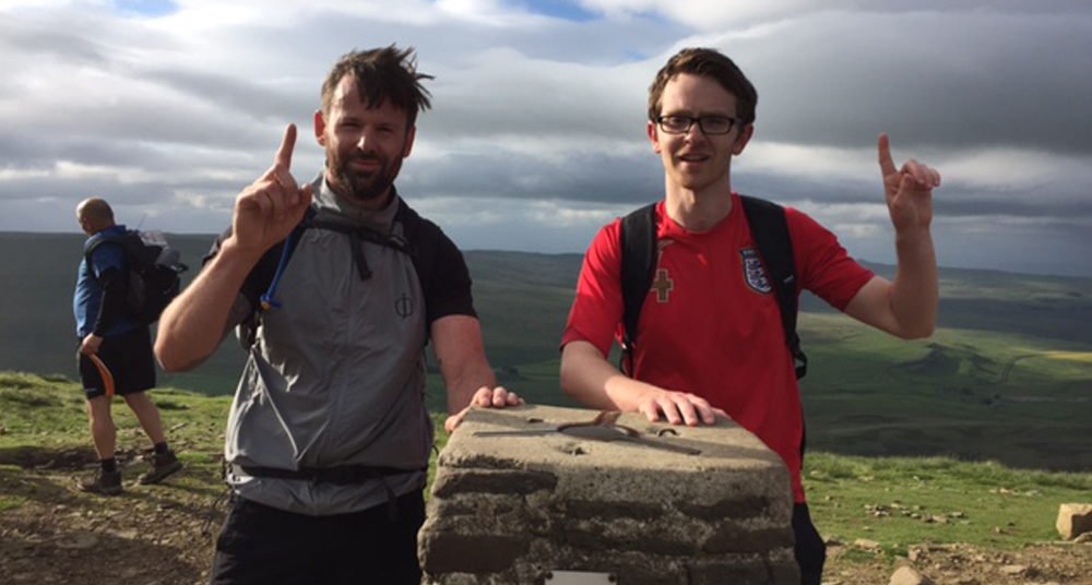 Ben Phillips & Michael Crookes during the Three Peaks Challenge