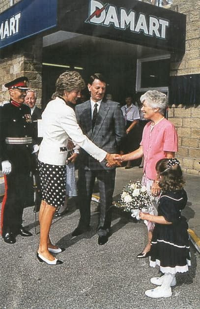 HRH Princess Diana visits Damart