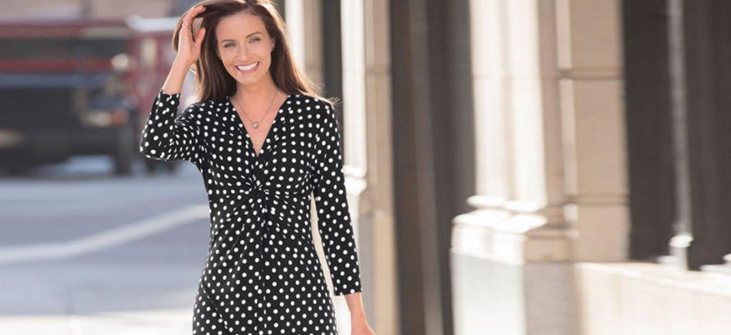 Damart-black-and-white-polka-dot-dress