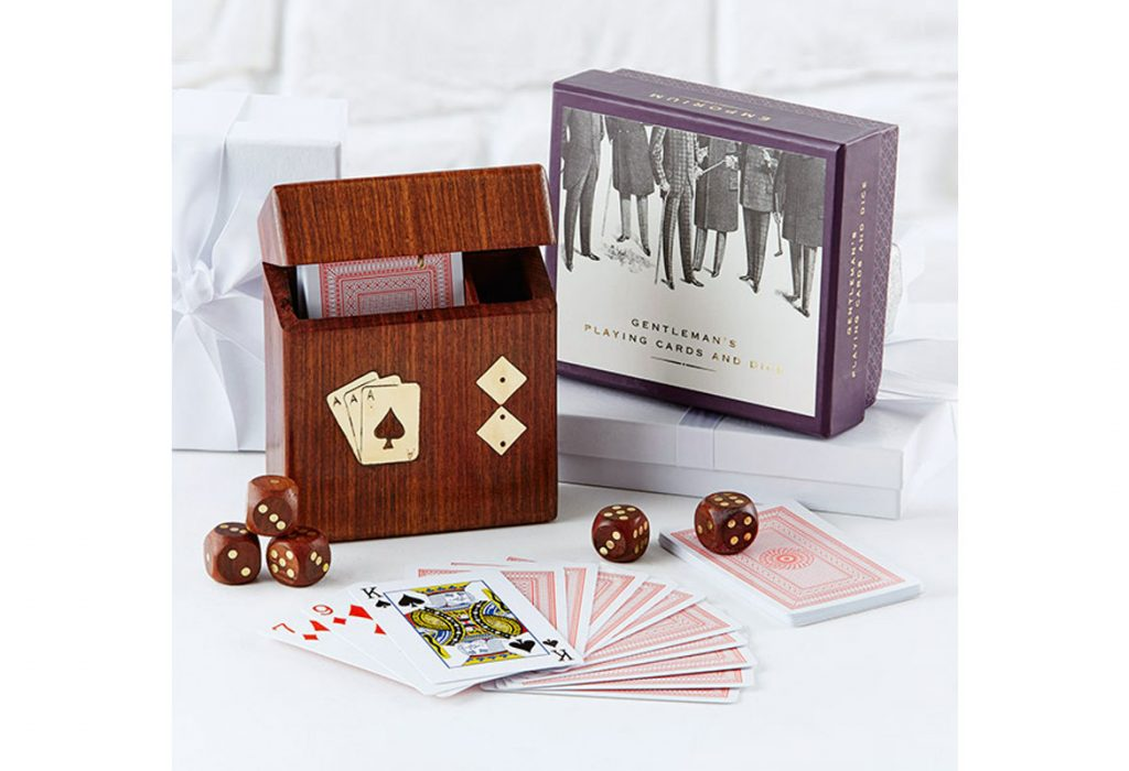 dice and card stocking filler