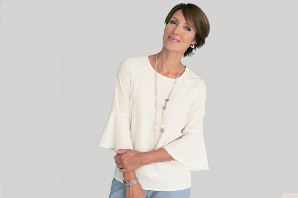 Fluted Sleeve Blouse | Damart Style Diaries