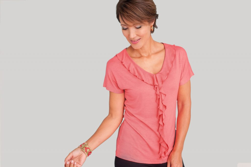 Frill Front T-shirt   Damart Style Diaries