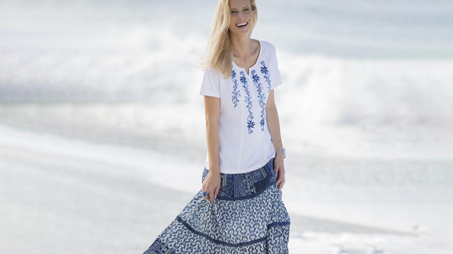 Cotton Tiered Skirt | Damart Style Diaries