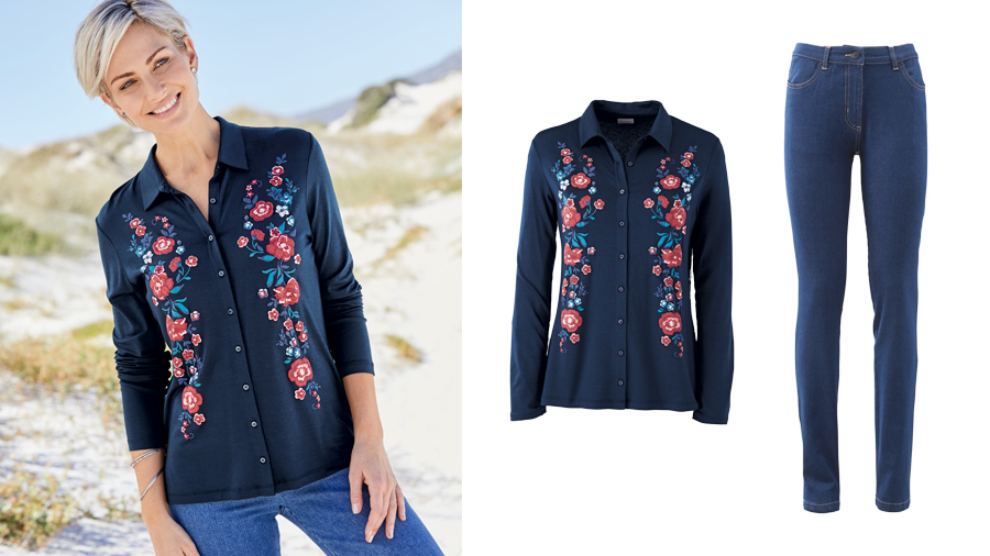 August Bank Holiday Outfit | Embroidered Blouse