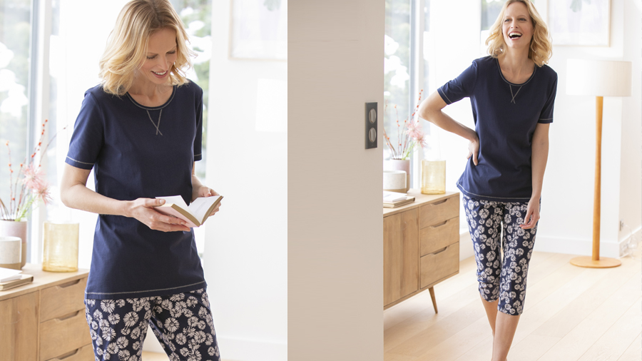 Women's crop pyjamas