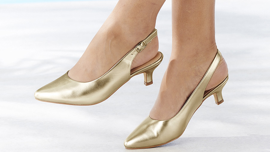 Chic sling back shoes