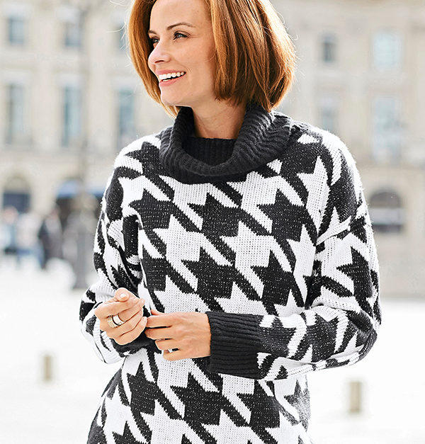 Damart Thermal Dogtooth Design Jumper