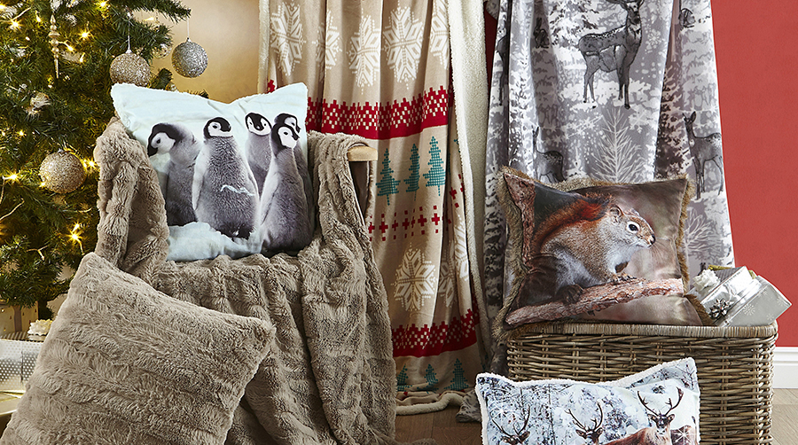 Cosy fleece and faux fur throws