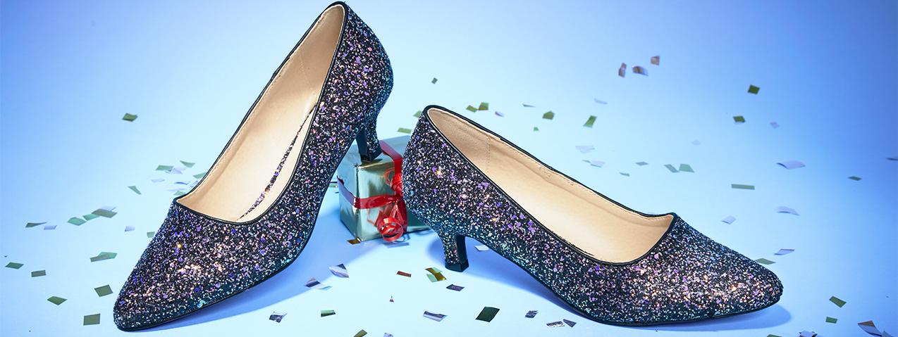 Festive court shoes