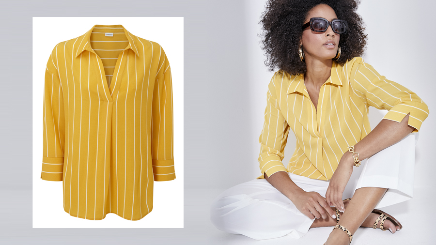 Stripe blouse holiday essential
