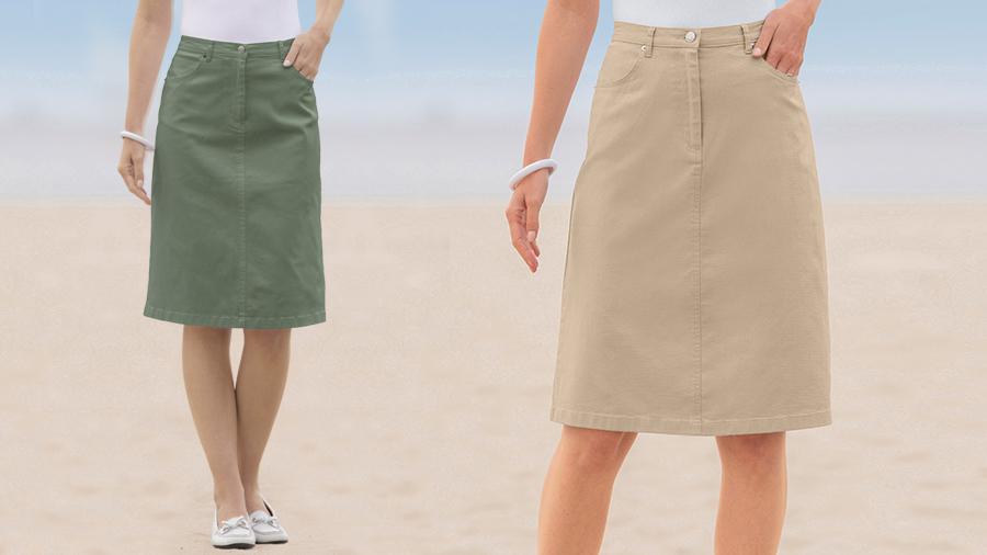T101 Cotton blend skirt