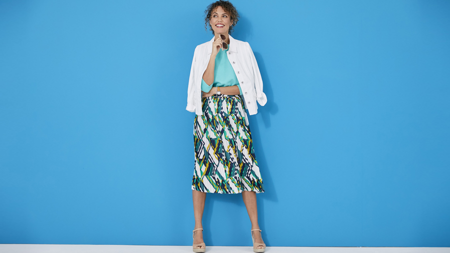 Casual evening pleated skirt