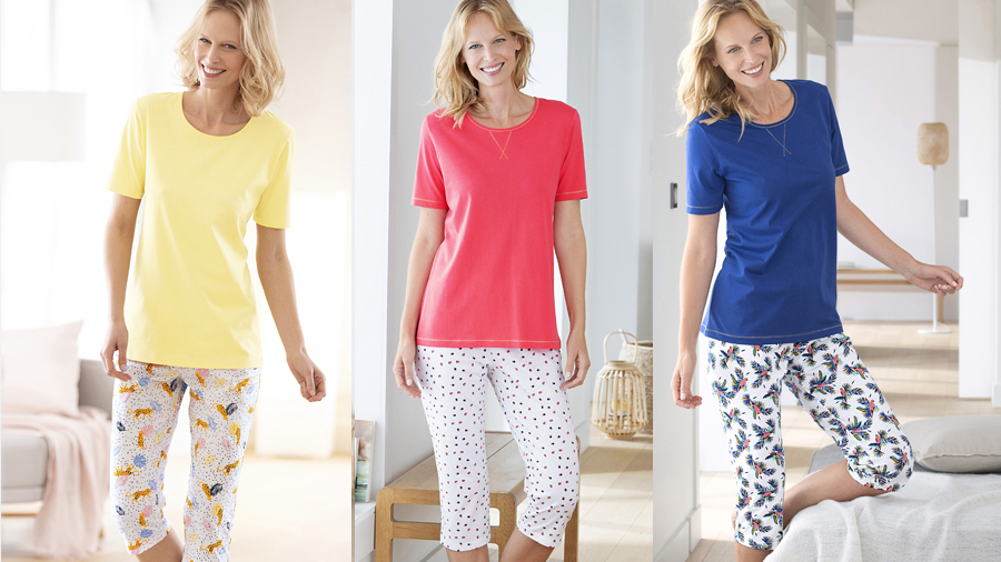 Women's cropped pyjamas