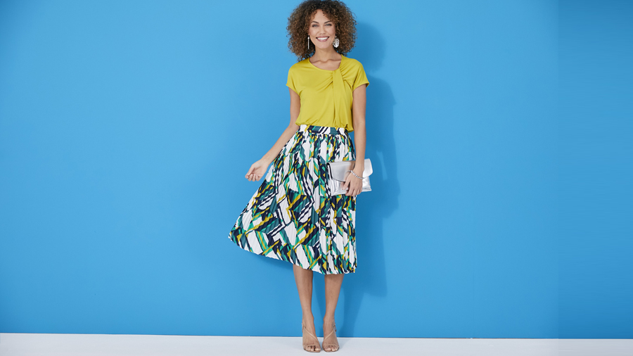Get dressy pleated skirt