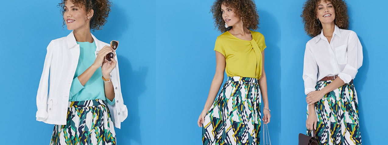 3 ways to wear the pleated skirt