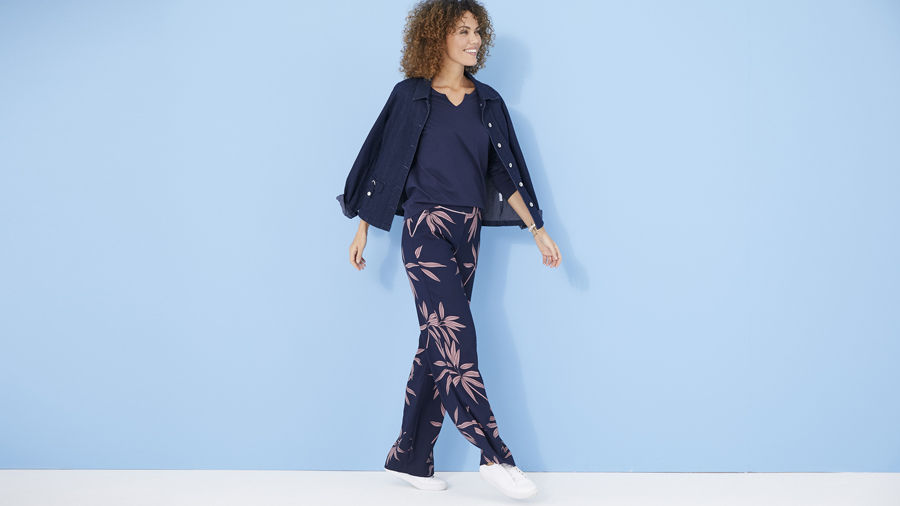 Casual printed palazzo trousers