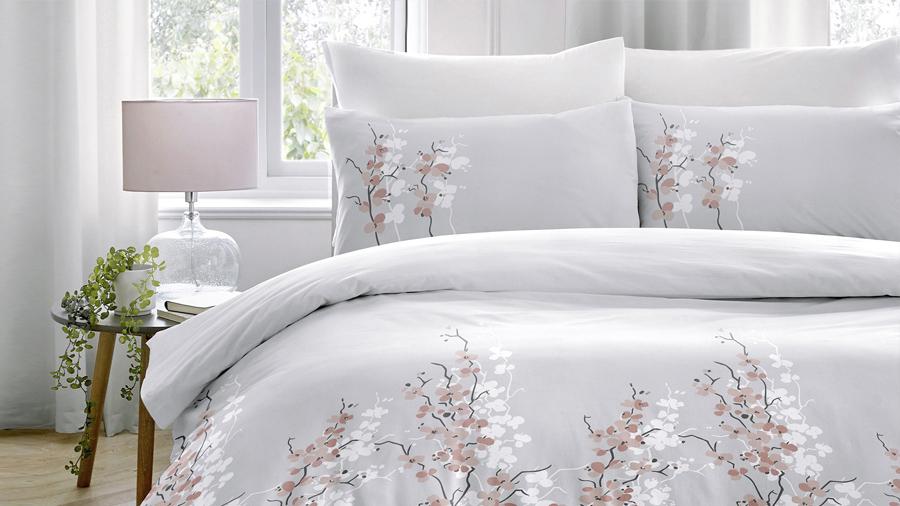 Oriental flower duvet set