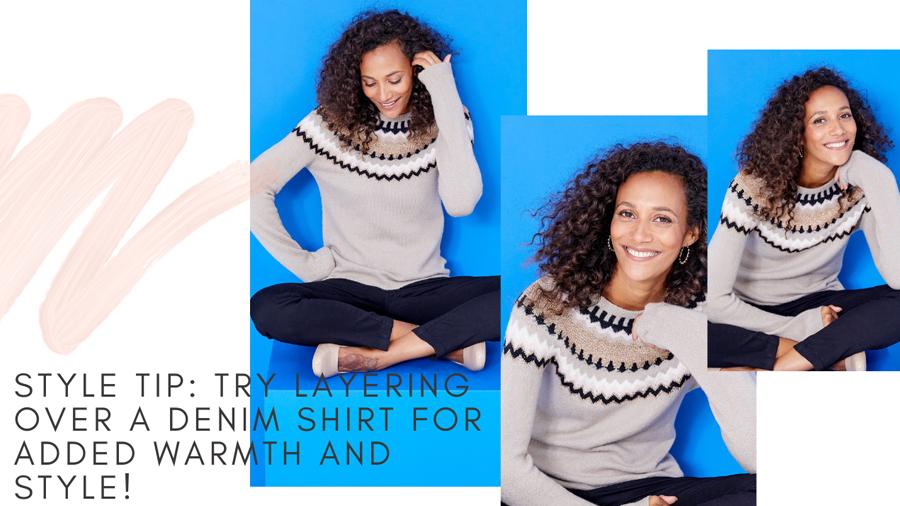 Alpine print sweater