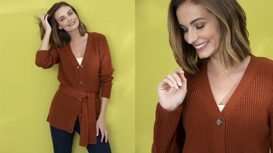 Belted cardigan perfect for layering