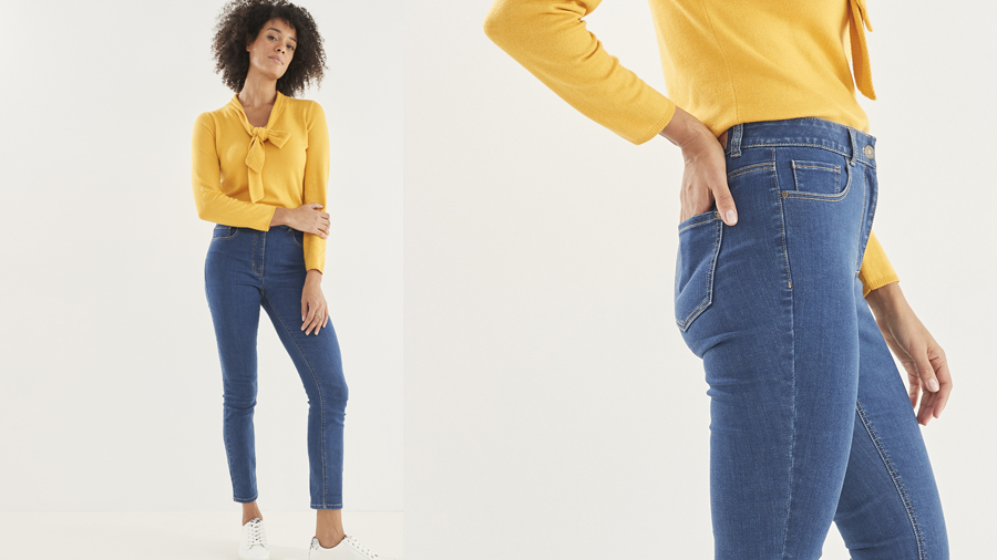 Perfect fit ankle grazer jeans