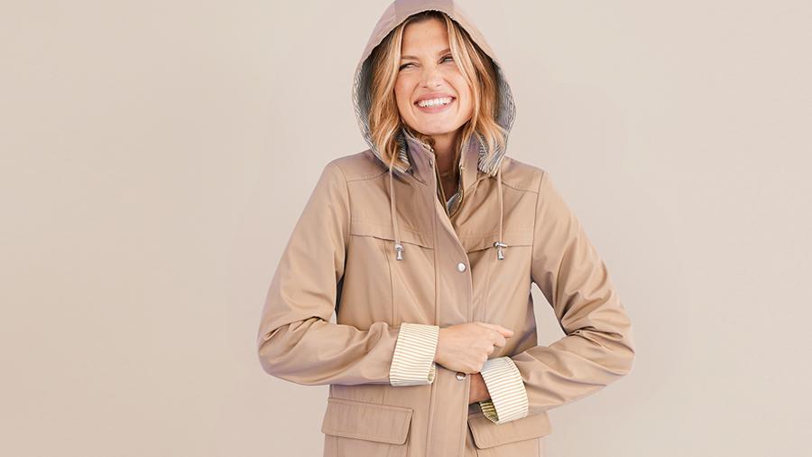 Transitional rain coat